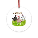 Cornish Trio Ornament (Round)