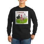 Cornish Trio Long Sleeve Dark T-Shirt