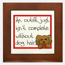 Dog Hair Framed Tile