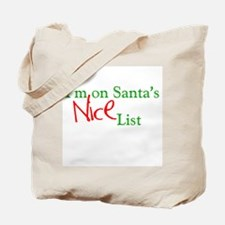 Santa's Nice List Tote Bag