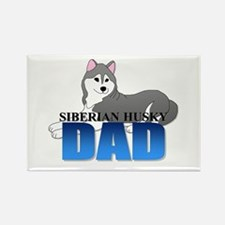 Siberian Husky Dad Rectangle Magnet (100 pack)