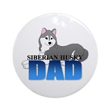 Siberian Husky Dad Ornament (Round)