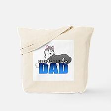 Gray Siberian Husky Dad Tote Bag