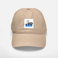 Gray Siberian Husky Dad Baseball Baseball Cap