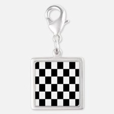 Classic Black Checkered Flag Charms