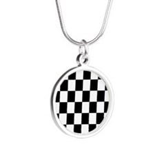 Classic Black Checkered Flag Necklaces