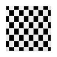 Classic Black Checkered Flag Queen Duvet