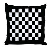 Checkered flag pillow Throw Pillows