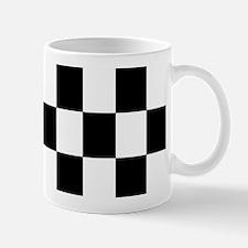 Classic Black Checkered Flag Mug