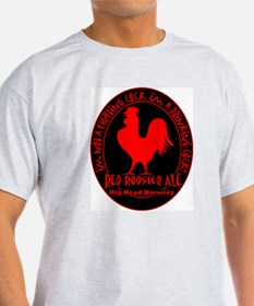 Drinking Rooster Ash Grey T-Shirt