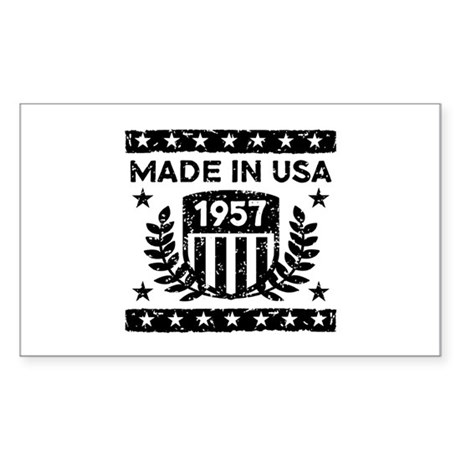Made In USA 1957 Sticker (Rectangle)