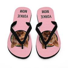 Yorkie Mom Flip Flops