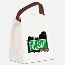 PULASKI ST, BROOKLYN, NYC Canvas Lunch Bag