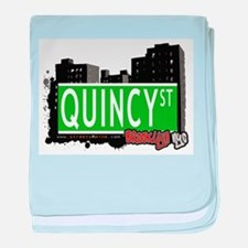 QUINCY ST, BROOKLYN, NYC baby blanket