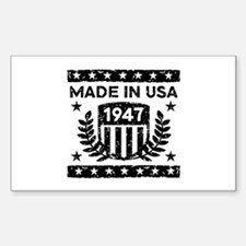 Made In USA 1947 Decal