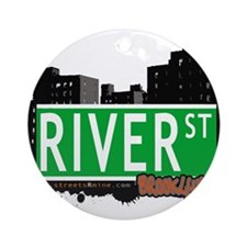 RIVER ST, BROOKLYN, NYC Ornament (Round)