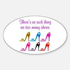 SHOE ADDICT Sticker (Oval)