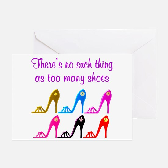 SHOE ADDICT Greeting Card