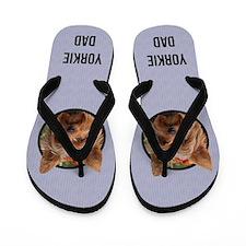 Yorkie Dad Flip Flops