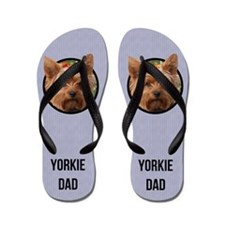 Yorkshire Terrier Dad Flip Flops