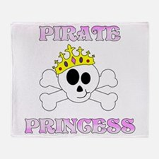 Pirate Princess Throw Blanket