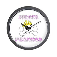 Pirate Princess Wall Clock