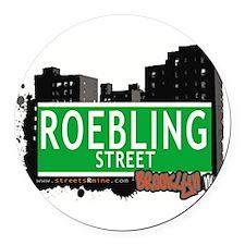 ROEBLING STREET, BROOKLYN, NYC Round Car Magnet
