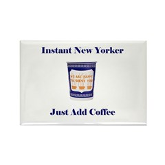 Instant New Yorker Rectangle Magnet