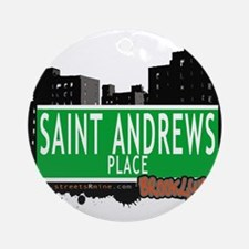 SAINT ANDREWS PLACE, BROOKLYN, NYC Ornament (Round