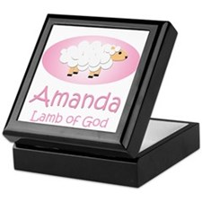 Lamb of God - Amanda Keepsake Box