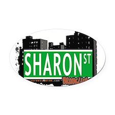 SHARON ST, BROOKLYN, NYC Oval Car Magnet