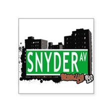 "SNYDER AV, BROOKLYN, NYC Square Sticker 3"" x 3"""
