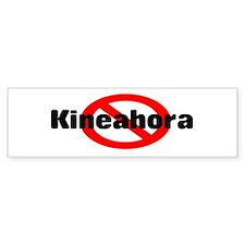 No Kineahora Bumper Car Sticker