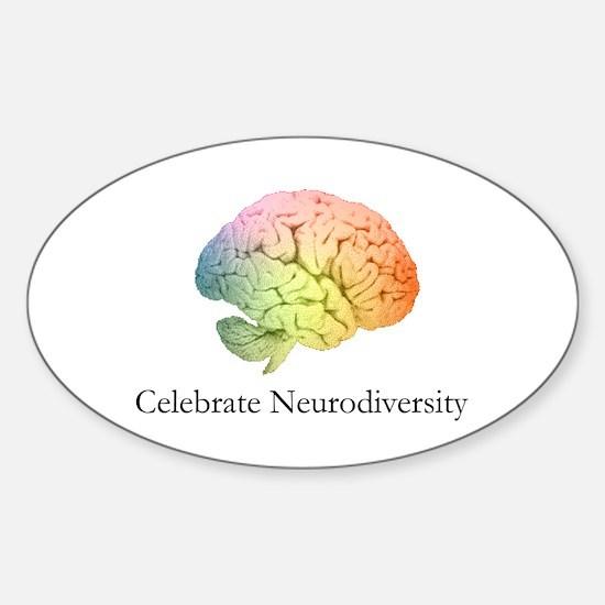 Celebrate Neurodiversity Oval Bumper Stickers