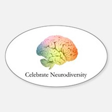 Celebrate Neurodiversity Oval Decal