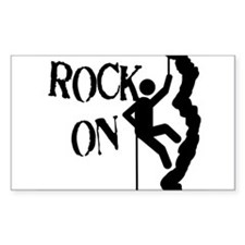 Rock On Rectangle Decal
