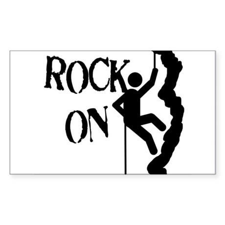 Rock On Rectangle Sticker