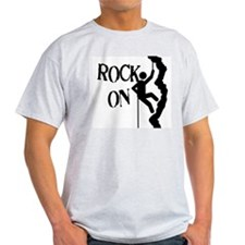 Rock On Ash Grey T-Shirt
