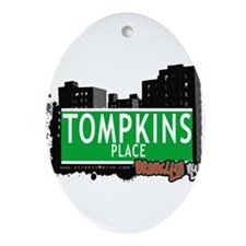 TOMPKINS PLACE, BROOKLYN, NYC Ornament (Oval)