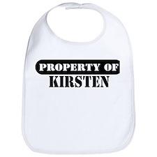 Property of Kirsten Bib