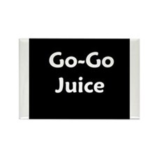 go go juice in B&W Rectangle Magnet