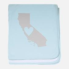 Heart California baby blanket