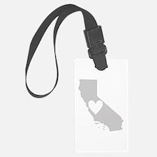 Heart California Luggage Tag