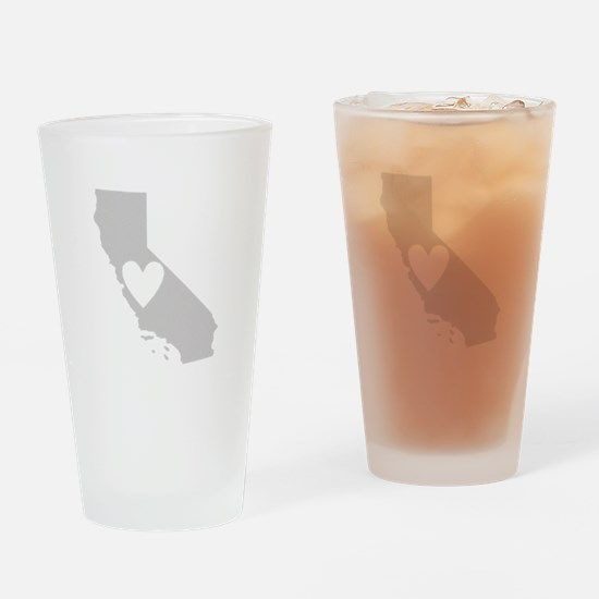 Heart California Drinking Glass
