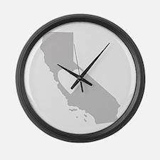 Heart California Large Wall Clock