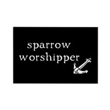 Sparrow Worshipper Rectangle Magnet
