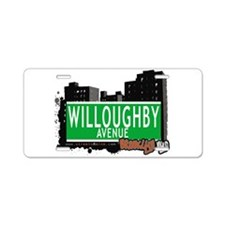 WILLOUGHBY AVENUE, BROOKLYN, NYC Aluminum License