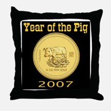 2007 Year of the Pig Throw Pillow