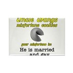 He is Married... And Gay Rectangle Magnet (10 pack
