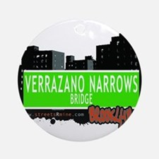 Verrazano Narrows Bridge, BROOKLYN, NYC Ornament (